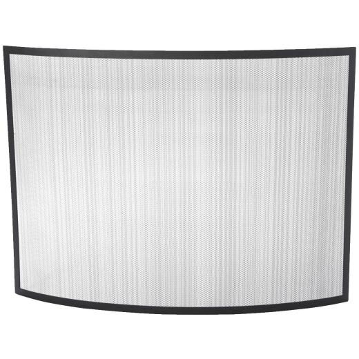 Home Impressions Black Curved Fireplace Screen