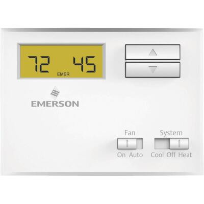 White Rodgers Non-Programmable White Digital Thermostat