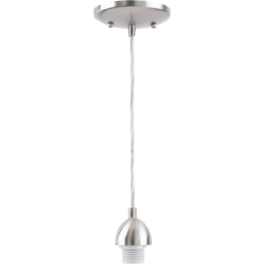 Westinghouse 1 Bulb Brushed Nickel Incandescent Pendant Light Fixture