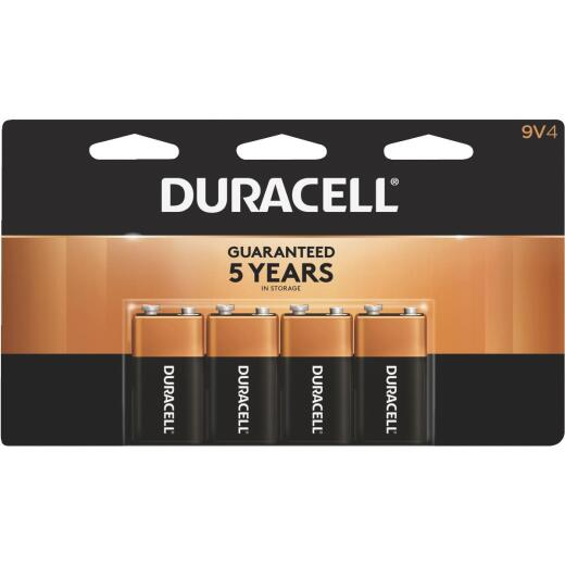 Duracell CopperTop 9V Alkaline Battery (4-Pack)