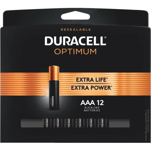 Duracell Optimum AAA Alkaline Battery (12-Pack)
